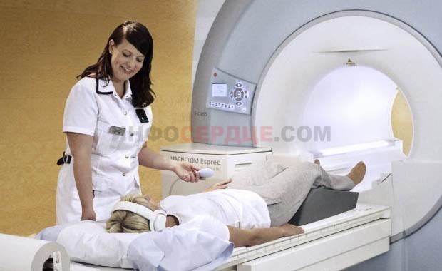 Фото пациента на МРТ