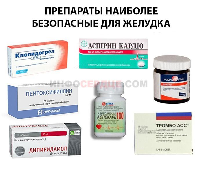 Лекарства безопасные для желудка